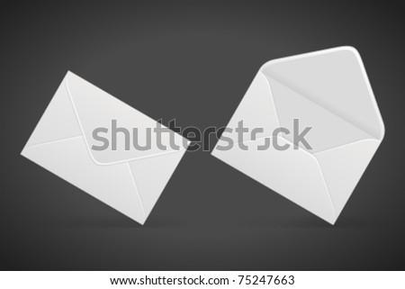Set e mail icon. Vector illustration Eps 10. - stock vector