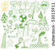 Set - ecology - stock vector