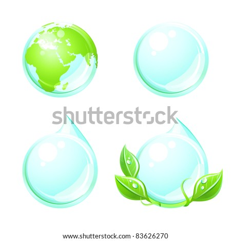 Set element for your ecological design . Eco concept . - stock vector