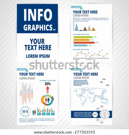 Set element of infographic. Vector, illustration. - stock vector
