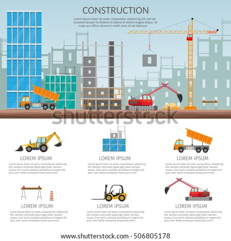 Set elements construction concept process construction for Building a house where to start