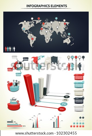 Set elements infographic world map information stock vector set elements infographic world map information stock vector 102302455 shutterstock gumiabroncs Image collections