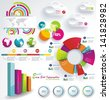 Set elements of infographics - stock photo