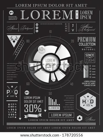 Set elements of infographics - stock vector