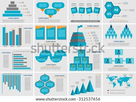 Set elements of infographics. - stock vector