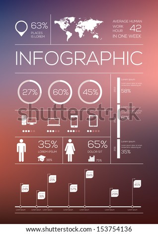 Set elements of infographics. Vector Illustration - stock vector