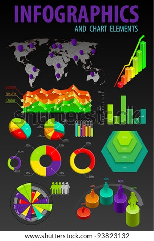 Set elements of infographics. World Map and Information Graphics. - stock vector