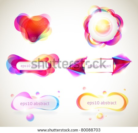Set eps10 abstracts - stock vector
