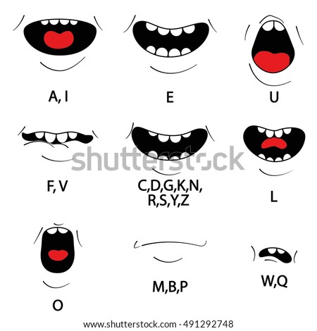 how to draw mouths talking