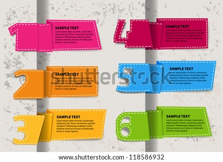 Set for infographic Origami - stock vector