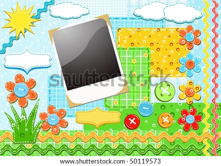 Set for scrapbooking. Vector illustration. - stock vector