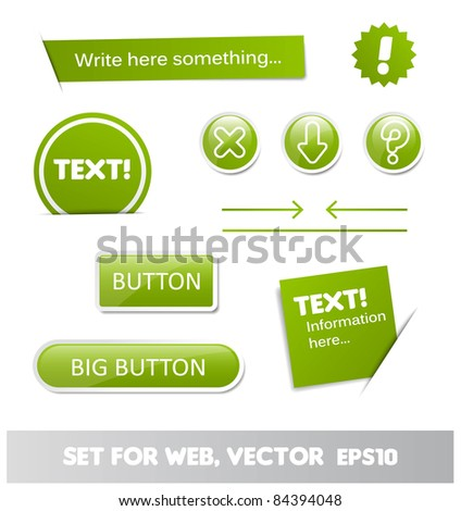 set for web, web page elements - stock vector