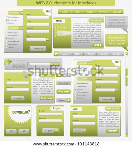 Set: forms and design element for web. Vector - stock vector