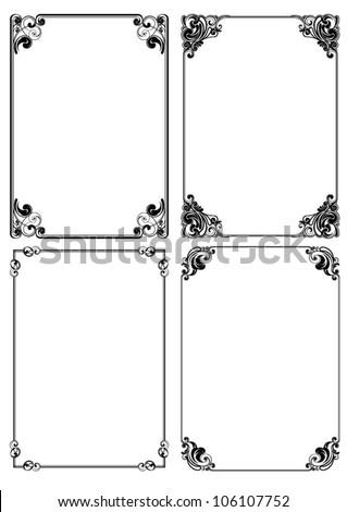 set frame design - stock vector