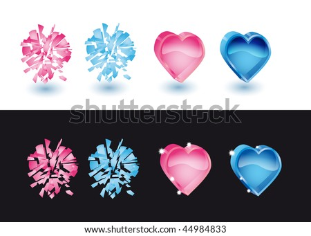 set from icons-hearts to valentinesday - stock vector