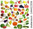 Set fruits and vegies - stock