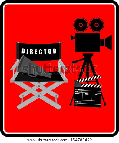 set icons cinematography cinema and movie vector - stock vector