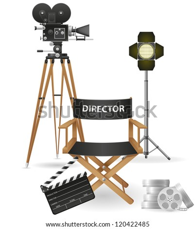 set icons cinematography cinema and movie vector illustration isolated on white background