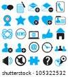 set icons for community - vector illustration - stock vector