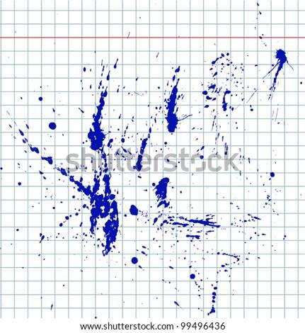 Set ink spots - stock vector