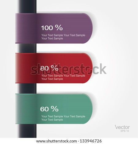 set labels. Vector. - stock vector