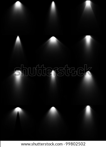 Set light sources. Vector - stock vector