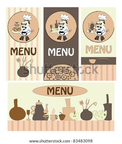 set menus for cafes, restaurants - stock vector