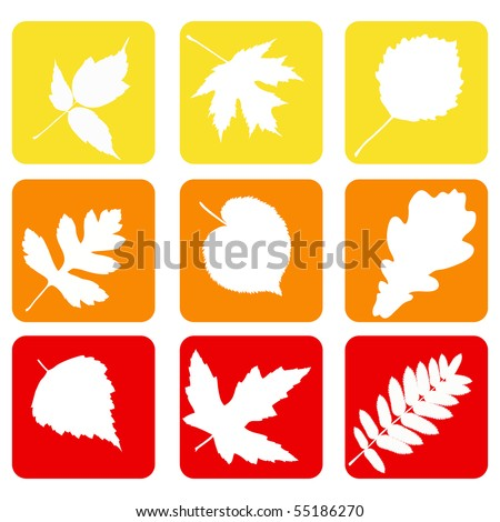 Set nature icons.  Vector illustration. - stock vector