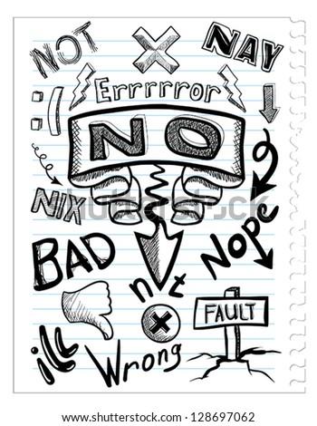 set no sketchs - stock vector