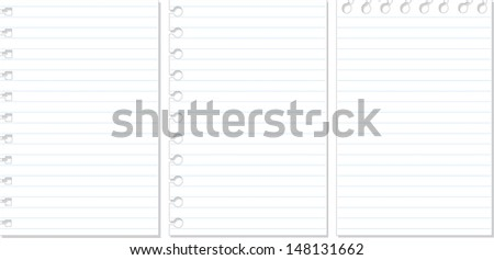 Set note Paper - stock vector