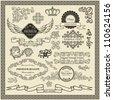 Set od vintage design elements. - stock vector