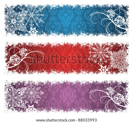 Set of a christmas banners. - stock vector