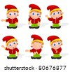 Set of a elf character poses A - stock photo