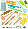 Set of a kitchen accessories - stock vector