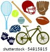 Set of a sport accessories B - stock vector