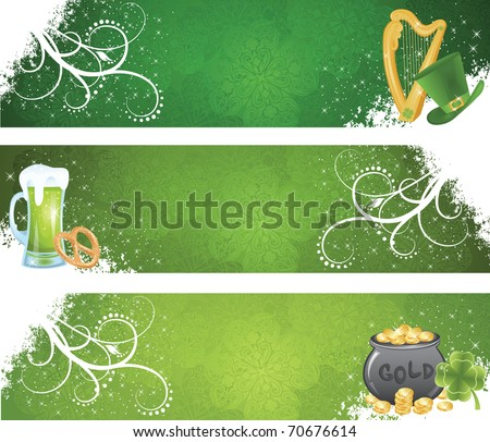 Set of a St. Patrick's Day's day banners. - stock vector