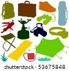 Set of a travel accessories - stock photo