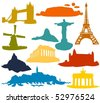 Set of a travel destination B - stock vector