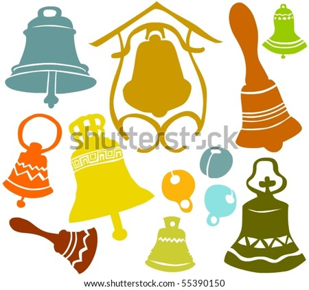 Set of a various bells - stock vector