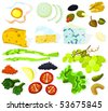 Set of a various food ingredients - stock vector