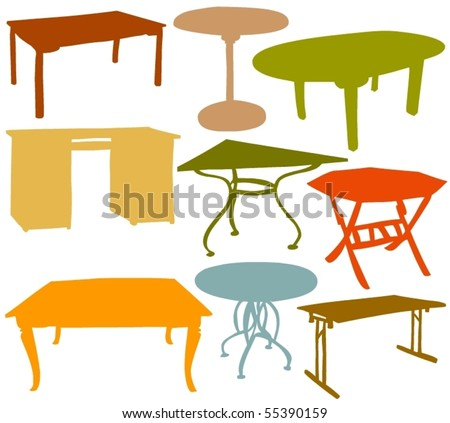 Set of a various table