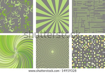 set of 6 abstact background - stock vector