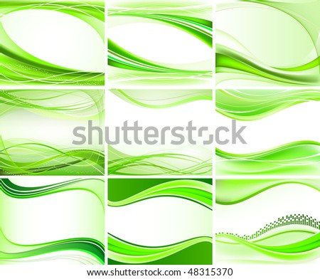 Set of abstract backgrounds vector - stock vector