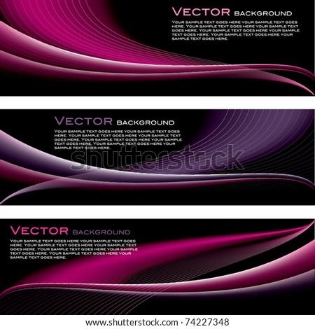 Set of Abstract Backgrounds. Vector Illustration in eps10 format. - stock vector