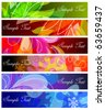 Set of abstract banner backgrounds - stock vector