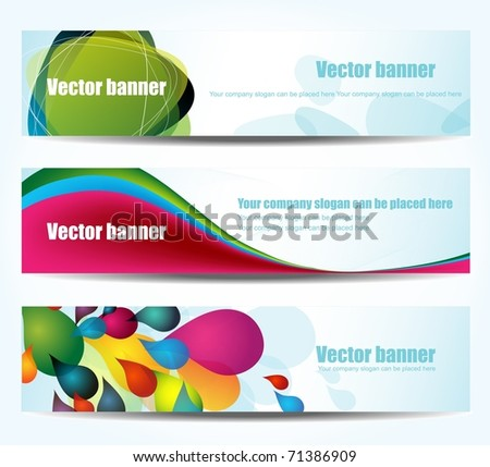 Set of abstract banners, vector