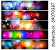 Set of abstract colorful backgrounds. - stock vector