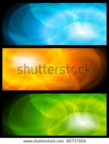 Set of abstract colorful banners. Vector design eps 10 - stock vector