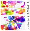 Set of abstract colorful web headers. - stock vector