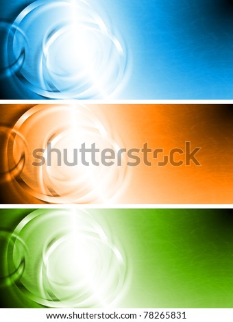 Set of abstract colourful banners. Eps 10 - stock vector